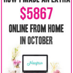 How I Made $5867 Blogging in October 2020; Details on how I made money blogging including tips and goals for the next month!