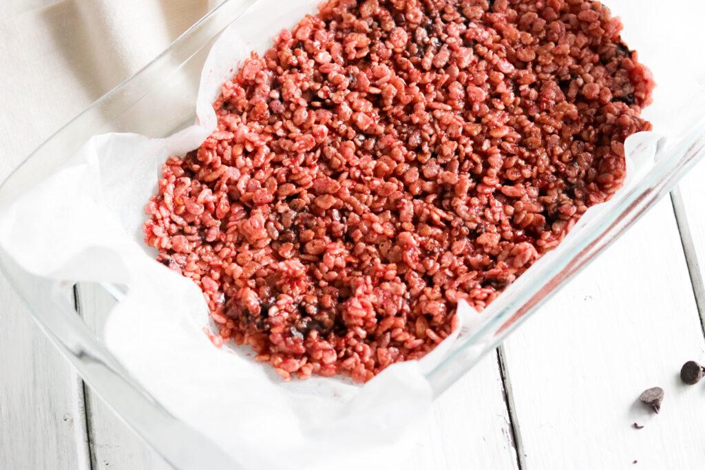 Skinny Chocolate Chip Raspberry Rice Krispies