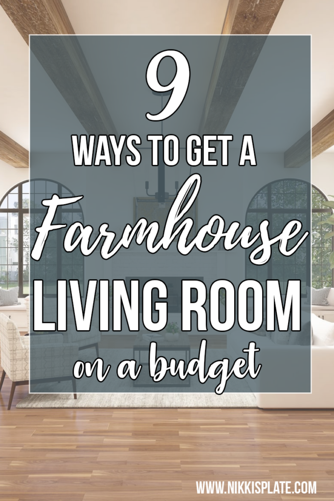FarmHouse Living Room on a Budget