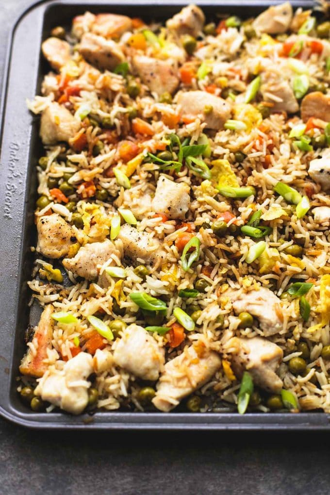 11 Sheet Pan Meals for Fast Weight Loss; Easy and quick meals made on one sheet pan that aid in rapid weigh loss! Eat healthy and get lean! Rice Chicken