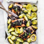 11 Sheet Pan Meals for Fast Weight Loss; Easy and quick meals made on one sheet pan that aid in rapid weigh loss! Eat healthy and get lean! Salmon Brussel sprouts