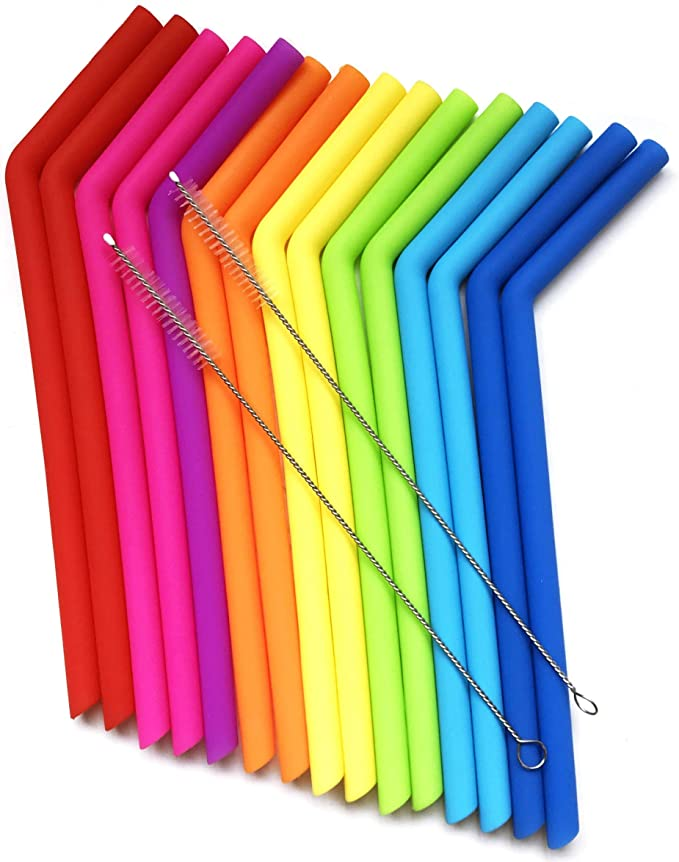 silicone straws - kitchen essentials from amazon