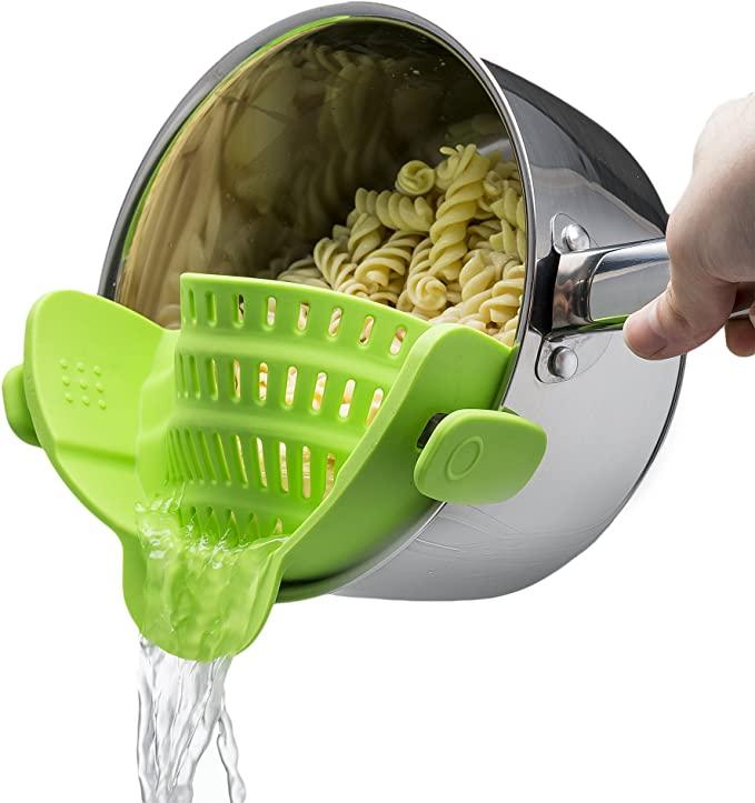 silicone pot strainer -  - kitchen essentials from amazon