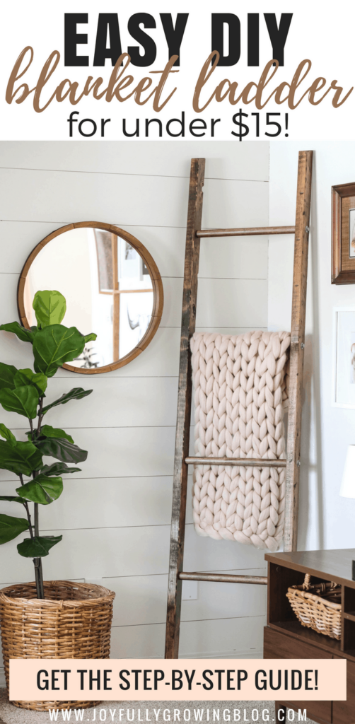 blanket ladder; Farmhouse Wall Decor Ideas