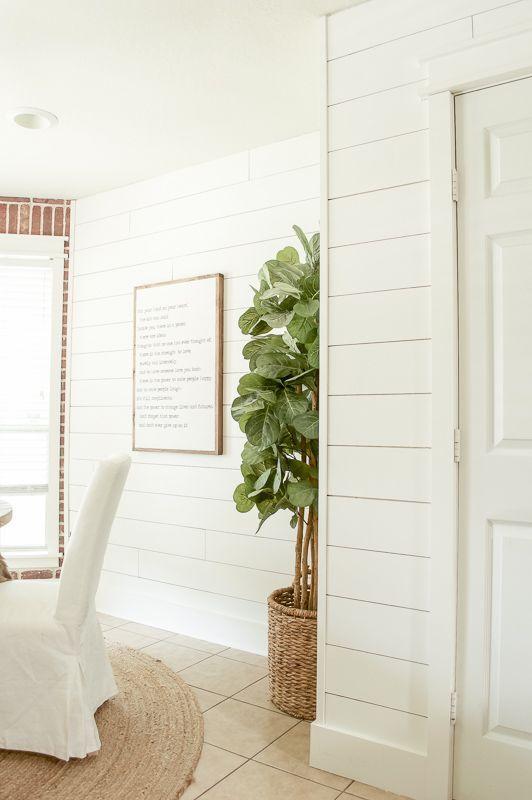 white ship lap walls; Farmhouse Wall Decor Ideas