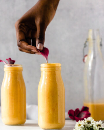 Winter Grapefruit Smoothie; vegan and plant based smoothie. Creamy with tart yet sweet flavours. 5 ingredients