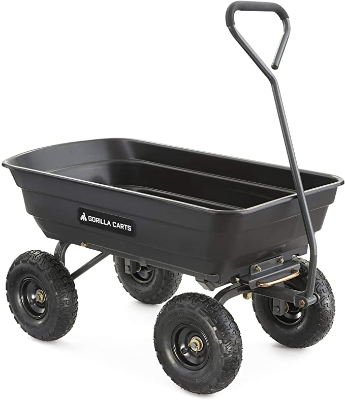 gardening must haves - wheel barrel, garden dump cart