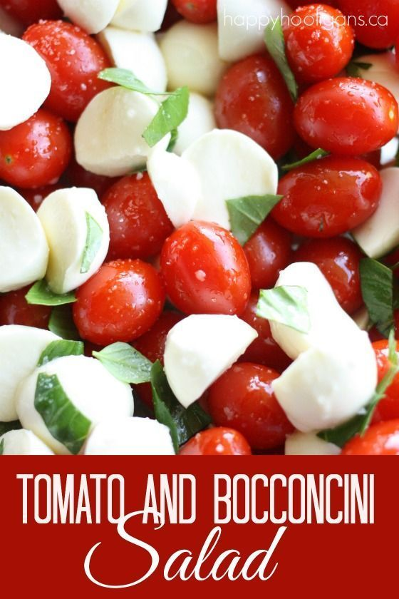 Canada Day Food Ideas: Recipes and Drinks - tomato and Bocconcini salad