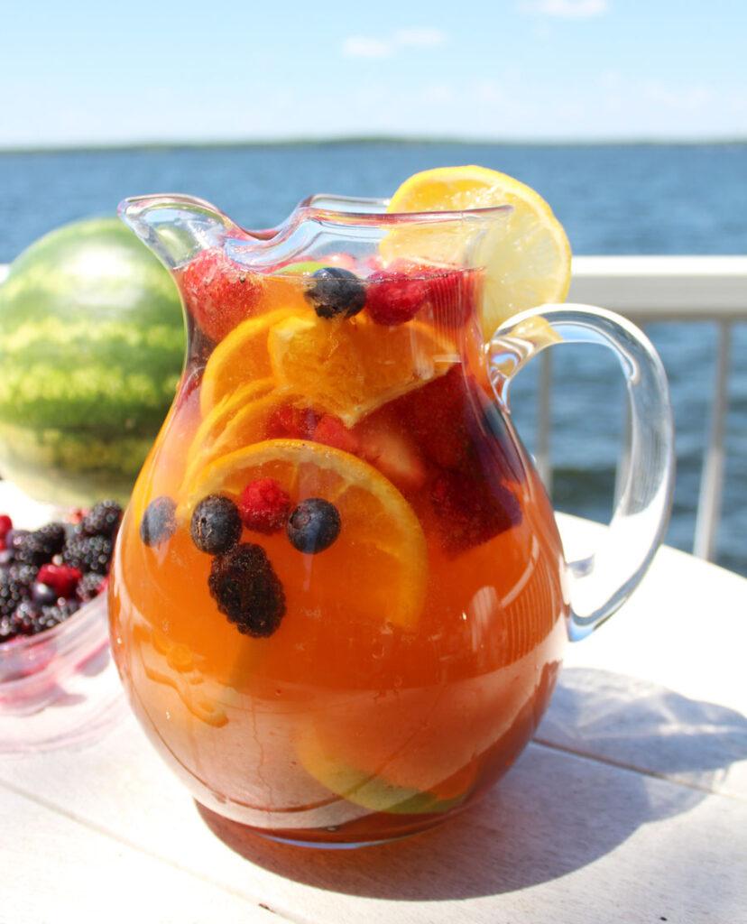 Delicious Summer Cocktails: Jungle Juice Sangria Recipe - white wine, Snapple, juice & fruit