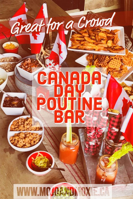Canada Day Food Ideas: Recipes and Drinks - poutine bar