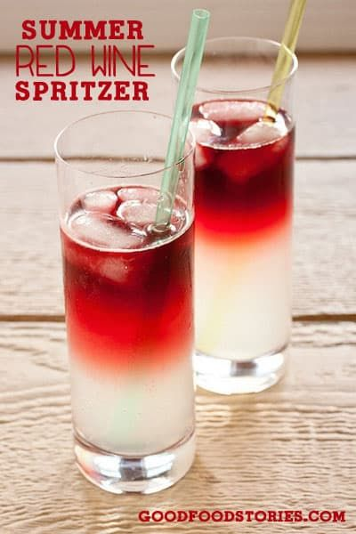 Canada Day Food Ideas: Recipes and Drinks - red wine spritzer