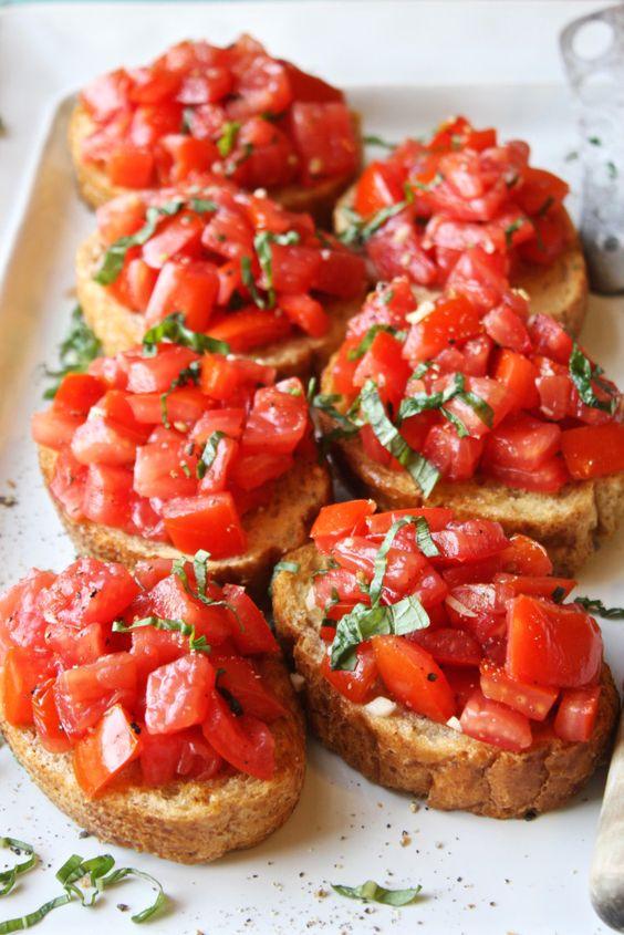 Canada Day Food Ideas: Recipes and Drinks - bruschetta