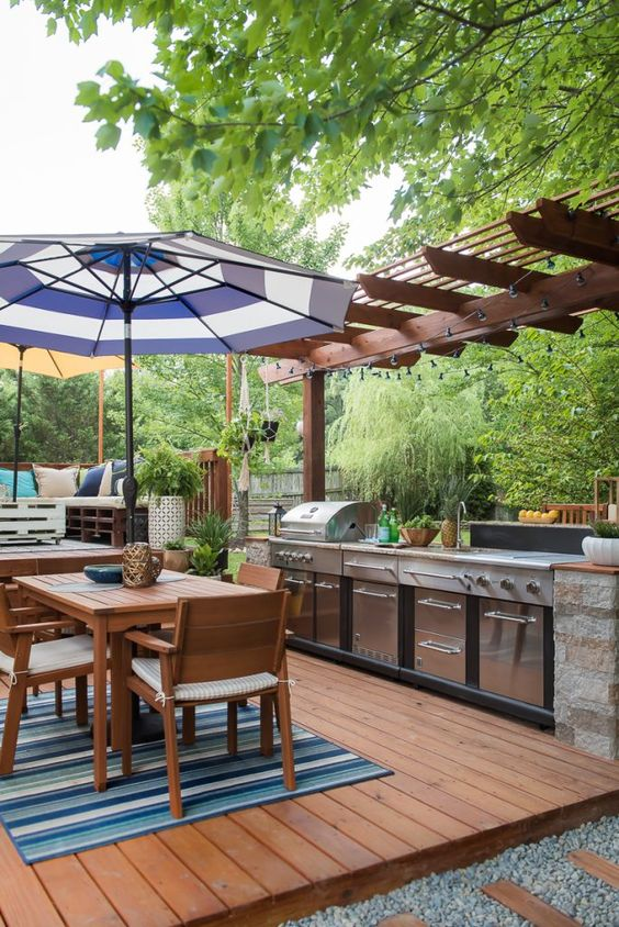 Tips for Styling your Deck this Summer; outdoor BBQ, cooking station, outdoor kitchen