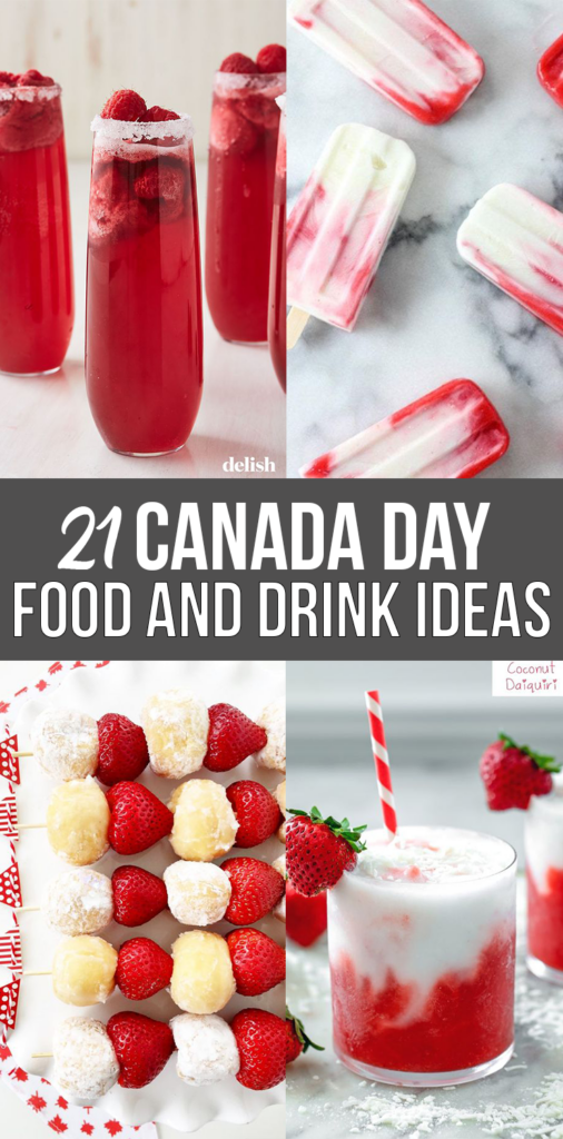 Canada Day Food Ideas: Recipes and Drinks - red and white recipes