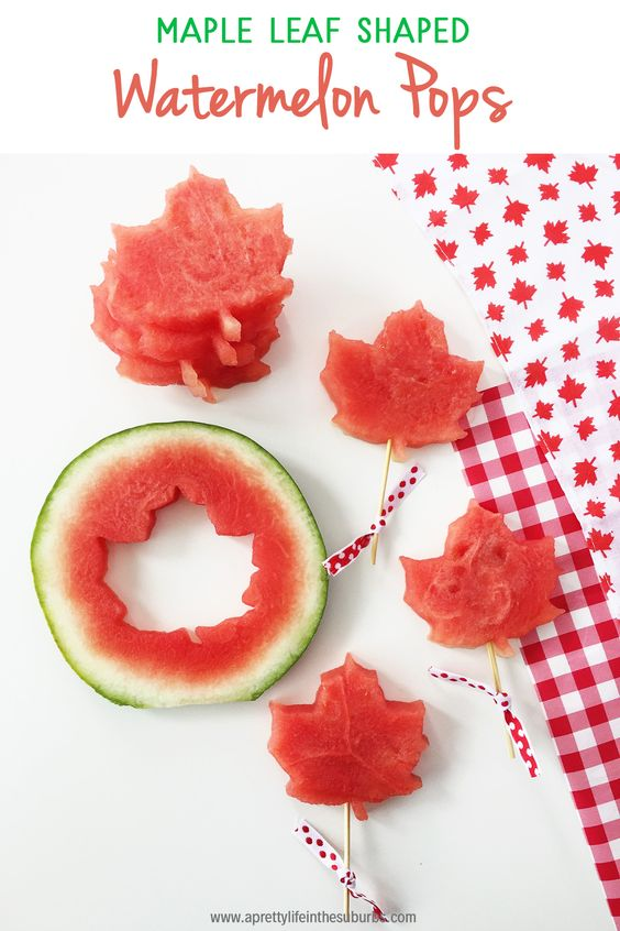 Canada Day Food Ideas: Recipes and Drinks - Maple leaf shaped watermelon
