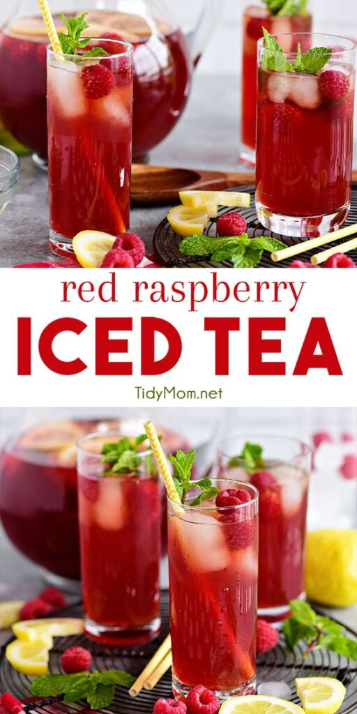 Canada Day Food Ideas: Recipes and Drinks - red raspberry iced tea