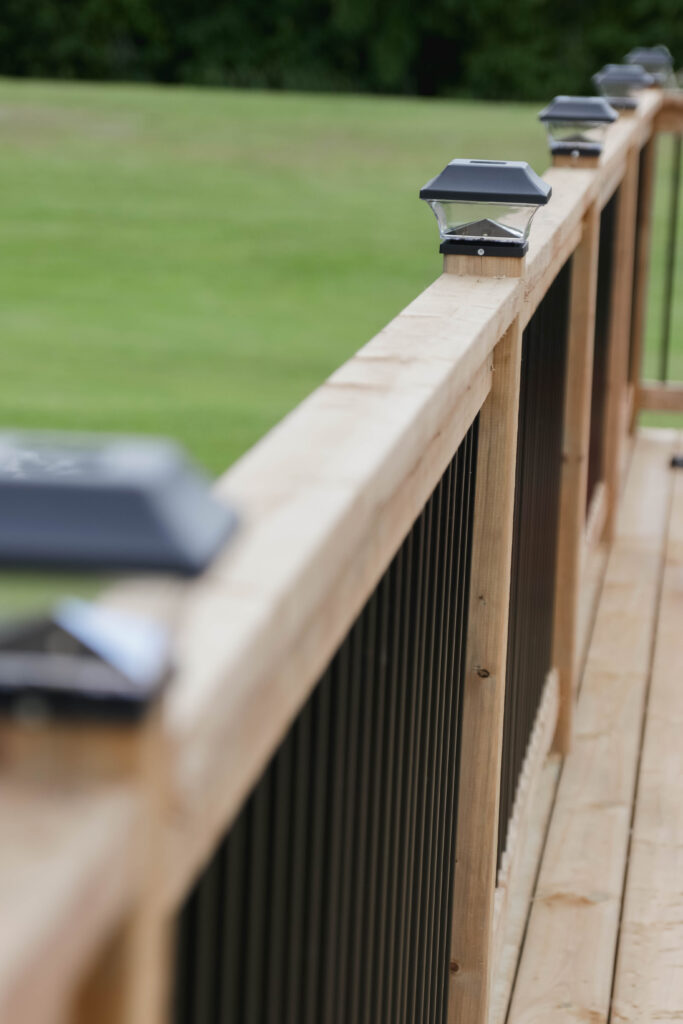 Tips for Styling your Deck this Summer; solar power deck post lights, deck lighting
