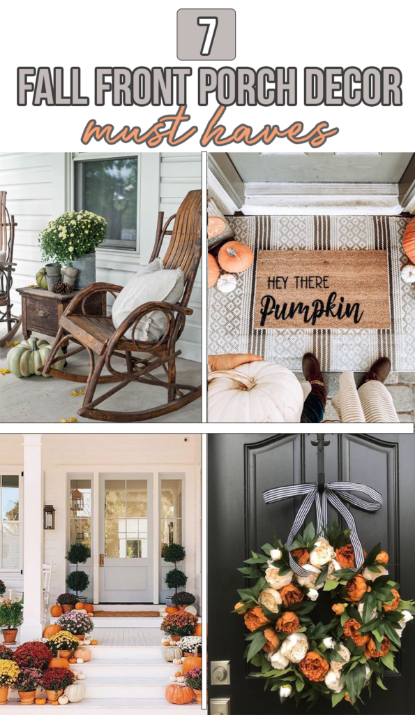 7 Fall Porch Decor Must Haves; here are some decor ideas you need this fall at the front of your house!