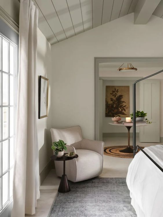 Best NEW bedrooms by Joanna Gaines from Fixer Upper; white bedroom, iron bed, shiplap