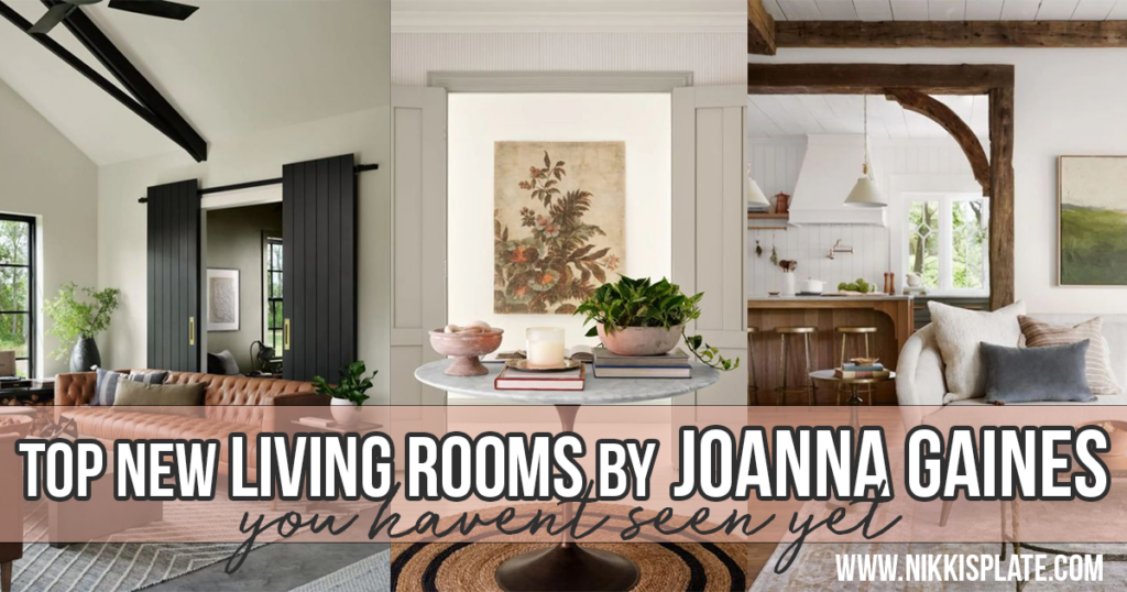 Best NEW Living Rooms by Joanna Gaines from Fixer Upper; here are the top living rooms from Joanna Gaines that you haven't seen yet! Modern Farmhouse